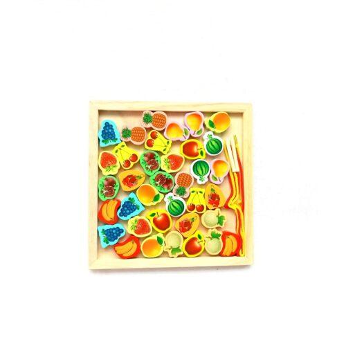 Extrokids Wooden Fruit Bead Lacing Toy Stringing Beading Game - EKT1914D