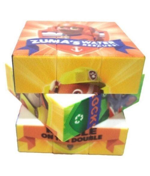 Extrokids Paw Patrol Printed 3D Effect 3x3 Stickerless Magic Cube Puzzle Toy - EKR0234