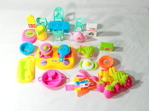 Extrokids Little Chef Cookware Pretend Kitchen Play Set Toy for Kids Accessories for Kids and Girls (50 Pcs) -  EKSD0002