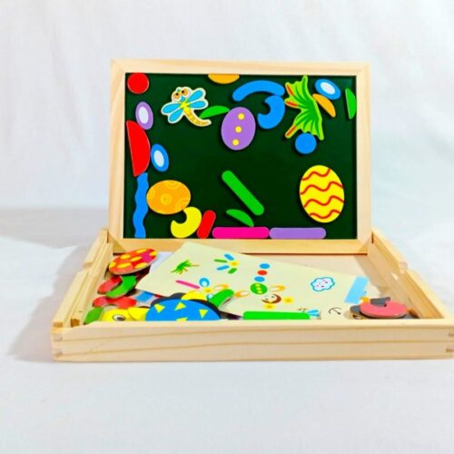 Extrokids Fantastic Wooden 2in1 Multipurpose Easel Childrens Jigsaw Puzzle Drawing Board Toy -  EKSD0016