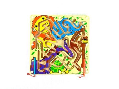 Extrokids Wooden Magnetic Pen Maze Toy - Pet Animal -  EKSD0017
